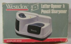 Westclox Letter Opener Pencil Sharpener Battery Operated 83109