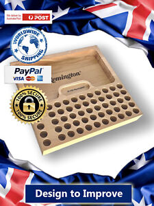 300 AAC Blackout Bullet Reloading Tray.Hard Wood.CNC Machined.Laser Engraved AU $49.99