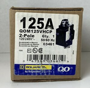 Square D By Schneider Electric Qom125vhcp Qom1 Frame Size 125 amp Main Breaker