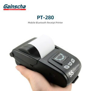 Gainscha Pt 280 Steady selling Bluetooth Mobile Printer 2 58mm Receipt Printing
