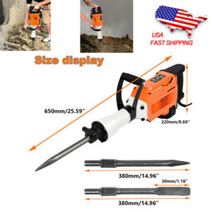3500w Electric Breaker Concrete Demolition Hammer Drill Tool Double Insulated Us