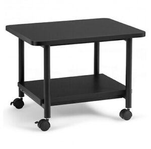 Under Desk Table Printer Stand With 360 Swivel Casters 2 tier Cart Cw