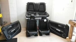 2015 Ford Mustang 50th Anniversary Oem Complete Interior Seat Set Black Leather