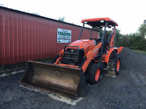 2017 Kubota L47 4x4 Hydro Compact Tractor Loader Backhoe Only 1400hrs