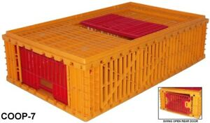2 Pack fast Fill Pheasant Transport Crates Game Bird Coop Poultry Cage