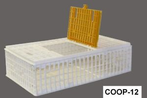 2 Pack game Bird Transport Crate Poultry Cage 38 25 x22 75 x10 75 Economy Coop