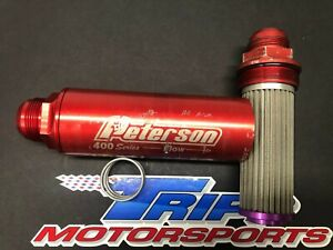 Peterson 400 Series Inline Oil Filter An24 100 Micron Nascar