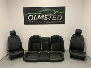 08 09 Pontiac G8 Gt Front Rear Leather Ebony Seats Fronts Left Right Rh Lh