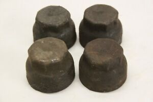 Original 1920 S Car Truck Wheel Center Grease Hub Caps Matched Set 4 No Name