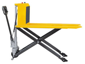 Sovans Electric Pallet Jack Lift Truck 2200lbs 49 lx21 w 31 5 Raised Height