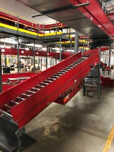 Intelligrated Powered Belt Conveyor System Motor Drive With Roller Conveyor