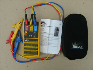 Ideal 61 521 3 phase Motor Rotation Tester With Leads In Soft Case Slightly Use