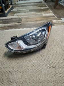 2012 2013 2014 Hyundai Accent Headlight Left Lh Driver Halogen Oem Headlamp L93