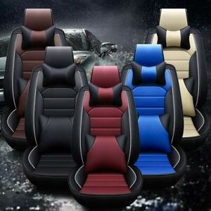 5 seats Universal Car Seat Cover Protector cushion Front rear Full Set Pu Pads