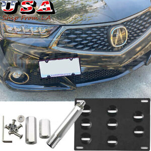 Front Tow Hook License Plate Mounting Bracket For 2015 2019 Acura Tlx Honda Fit