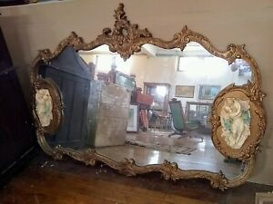 Large Mirror In Baroque Style Ornate Gold 69 X47 Mirror In Very Good Condition