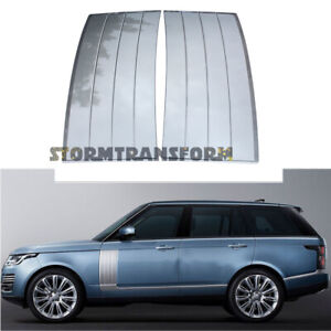 Upgrade For 2013 2021 Range Rover L405 Fender Air Side Vents Silver Abs Grille