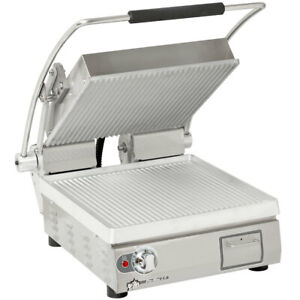 Star Pgt14 Two Sided Panini Sandwich Grill Aluminum grooved 14 X 14