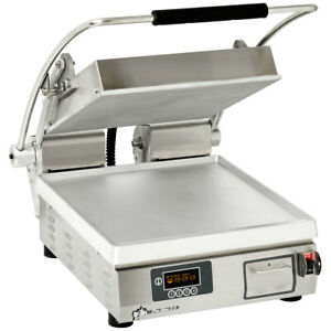 Star Pgt14i Two Sided Panini Sandwich Grill Iron Grooved Plates 14 x14