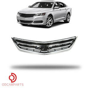 Fits 2014 2020 Chevrolet Impala Sedan Front Upper Grille Chrome Black Factory