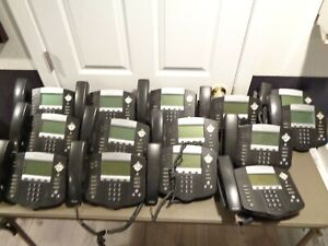 Lot Of 14 Polycom Soundpoint Ip 550 Sip Voip Business Phone Stand Handset