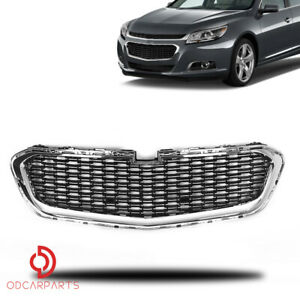 Fits 2014 2015 Chevrolet Malibu Front Radiator Lower Grille Chrome Black Factory