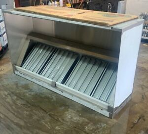 7 Ft Exhaust Hood Box Style New Stainless Steel For Commercial Kitchen