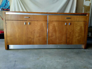 Mid Century Modern Walnut Credenza By Founders 2 Drawers 2 Cabinets Vg Cond