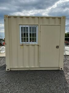 9 Shipping Container Conex Mobile Office Portable Guard Shack Tiny House 7862