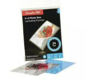 Swingline Gbc No Mistakes Repositionable Self Seal Laminating Pouches Pk Of 5