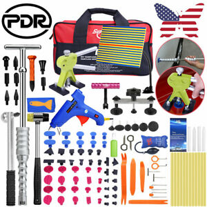 Us Car Paintless Dent Repair Kit Pdr Tools Slide Hammer Puller Bridge Lifter