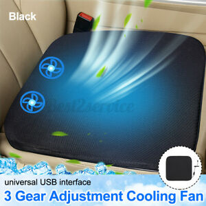 Universal Cooling Car Seat Cushion Cover Air Ventilated Fan Conditioned Cooler