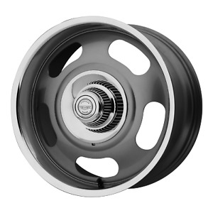 1 New 17x8 American Racing Vn506 Gray With Polished Lip Wheel Rim 5x120 65 Et0