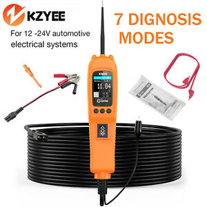 Kzyee Km50 12v 24v Powerscan Circuit Tester 7 Mode Electrical Power Tester Tool