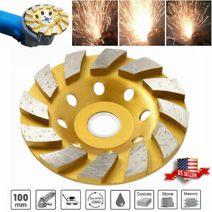New 4 Inch Diamond Segment Grinding Wheel Disc Grinder Concrete Stone Cutter