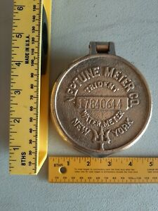 Vintage Brass Trident Neptune Water Xl Meter Cover From New York 17840644 Nrmt