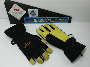 Habit 3m Thinsulate Insulated Waterproof Work Gloves leather Palm 1 Pair Size M