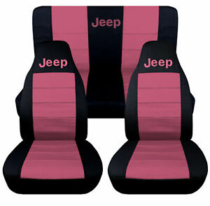 2011 2017 Jeep Wrangler Jk 2 Dr Seat Covers Sweet Pink Canvas Front Rear 14686