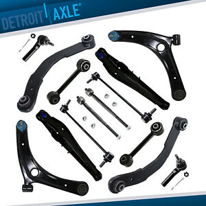 14pc Front Rear Control Arms Tierods Sway Bars For Dodge Caliber Jeep Compass