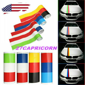 Color Exterior Car Vinyl Sticker Stripes Decal French Italy Flag German For Bmw