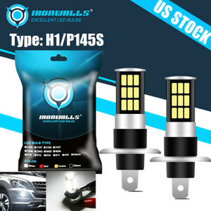 Xenon H1 Led Halogen Headlight Bulbs 6000k Fog Lamps Beam Light 100w Ultra White