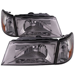 Headlights And Side Marker 4pc Set W Performance Lens For 03 04 Grand Marquis