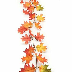 Darice Fall Garland Autumn Oak Leaf Durable Thanksgiving Decorations Gift 6
