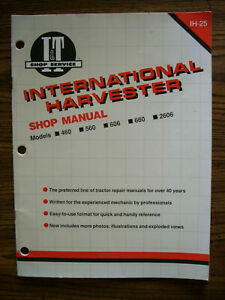 Ih Farmall International Mccormick 460 560 660 606 2606 Service Manual