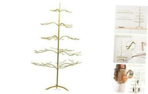 Metal Ornament Display Tree And Jewelry Organizer 36 Wire Ornament Stand And