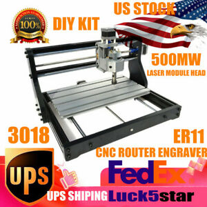 Cnc 3018 Pro Engraving Machine Mini Diy Wood Router Grbl Control W 500mw Lasers