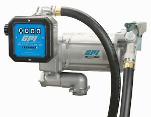 Gpi 30gpm Ac Fuel Transfer Pump 115v Hose Nozzle Mechanical Meter M 3130 ml