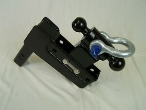 Adjustable reversible 2 5 16 X 2 Ball Towing Recovery Shackle Hitch Tow Hook