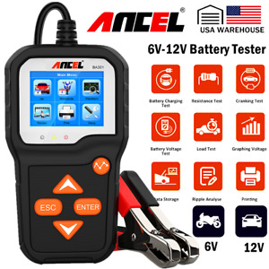 Ancel 12v Automotive Car Battery Tester Charging Cranking Analyzer 100 2000cca