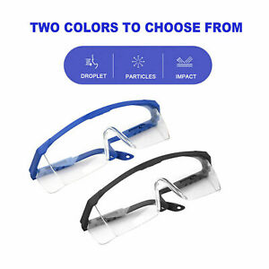 1 50pc Chemistry Lab Protective Eye Goggles Safety Transparent Glasses Medic Lot